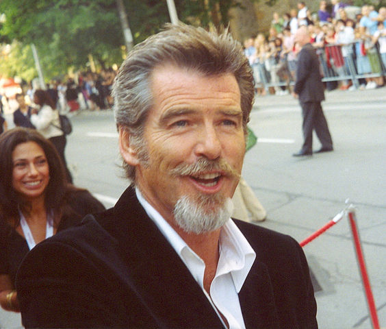 Pierce Brosnan van dyke and goatee beard