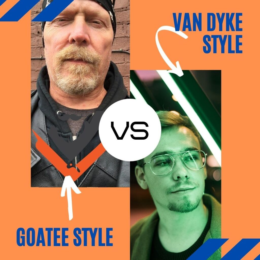 Van Dyke beard vs goatee