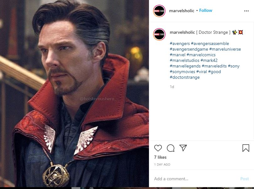 Benedict Cumberbatch Goatee in Dr. Strange movie