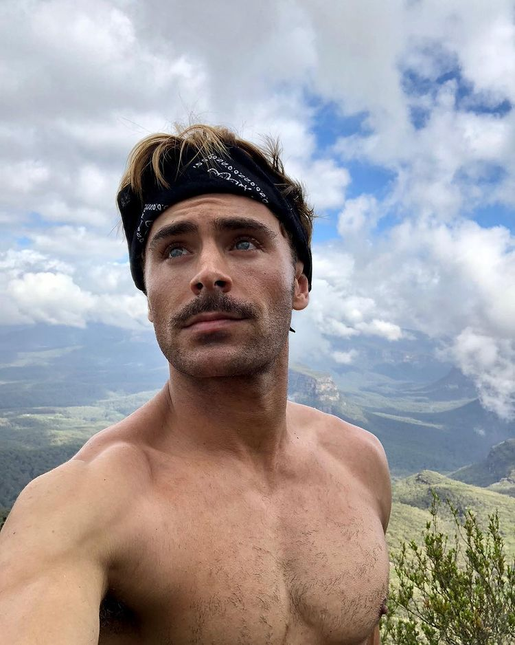 Zac Efron with Mustache
